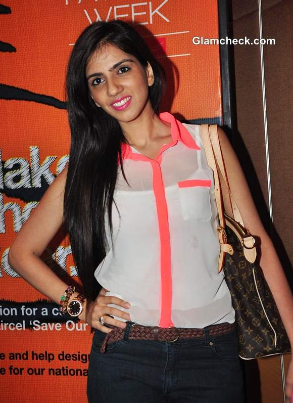 Fashion designer Nishka Lulla Lakme India Fashion Week Summer-Resort 2013