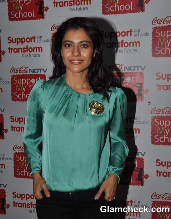 Kajol 2013 NDTV Coca Cola Support My School Campaign