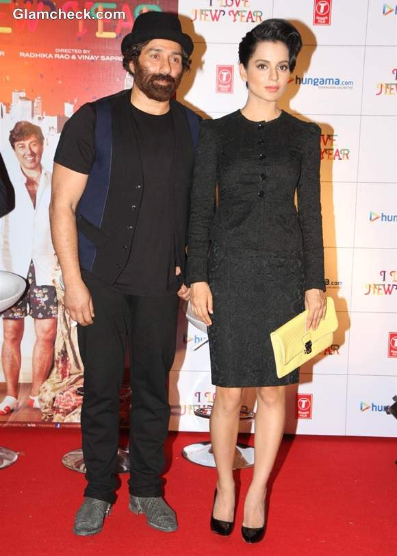 Kangana Ranaut sunny deol at I Love New Year Theatrical Trailer launch in Mumbai