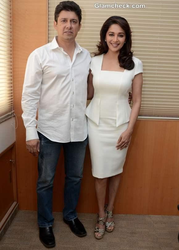 Madhuri Dixit with husband sri ram nene