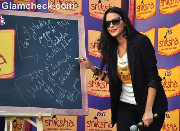 Neha Dhupia At The Walk For The Love Of Shiksha In Mumbai