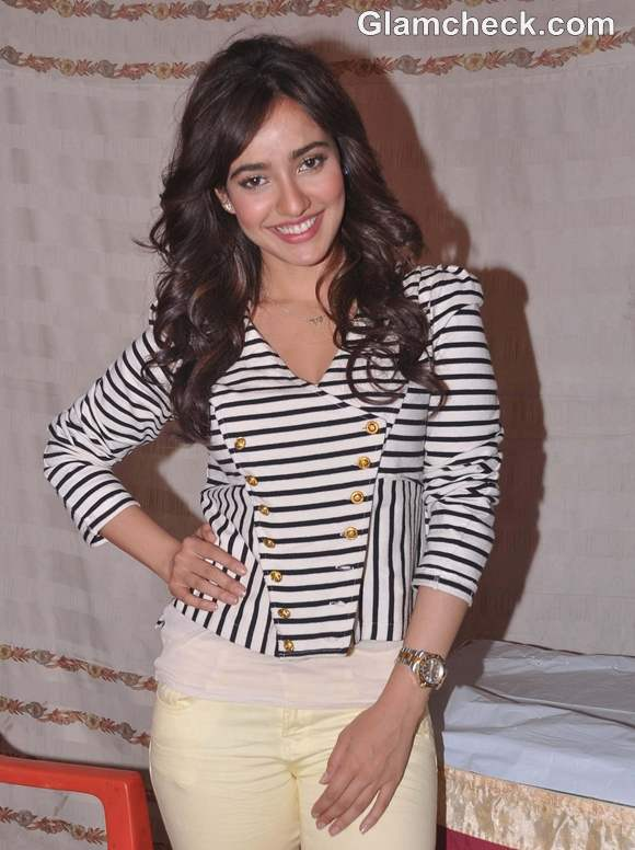 Neha Sharma Promotes Jayantabhai Ki Love Story in Mumbai