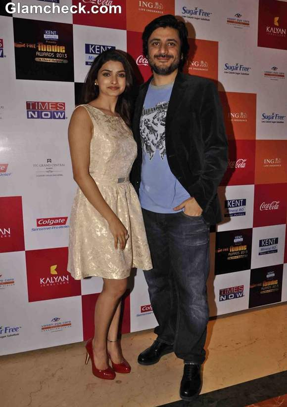 Prachi Desai with Goldie Behl at The Times Now Foodie Awards 2013