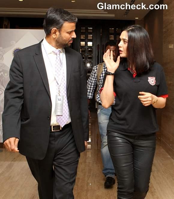 Preity Zinta At IPL 2013 Player Auction In Chennai
