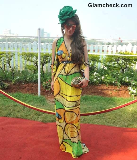 Pria Kataria Puri in maxi dress at Hello Classic Derby Race 2013