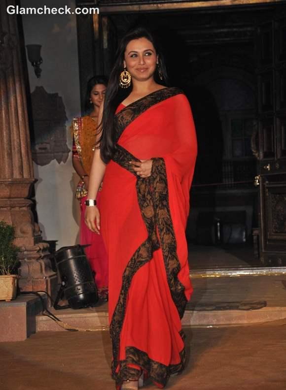 Rani Mukherji in red sari at Saraswatichandra launch