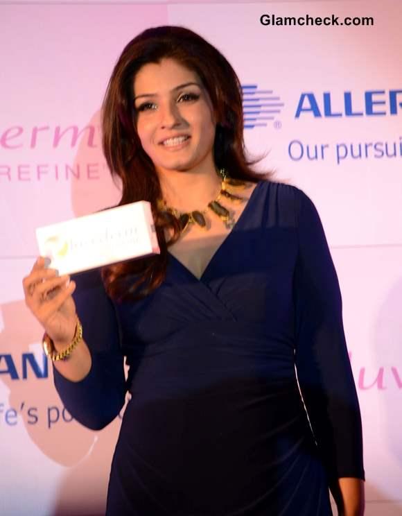 Raveena Tandon 2013 At Jivederm Refine Promo