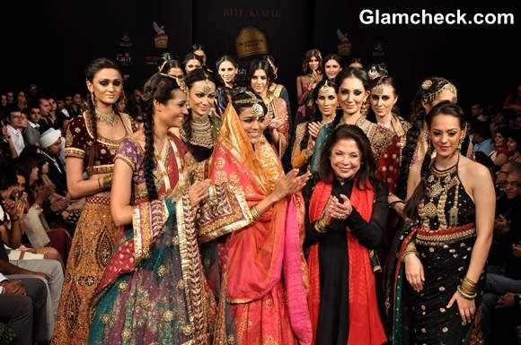 Ritu Kumar Showcasing at the final day Bangalore Fashion Week 2013 summer showers