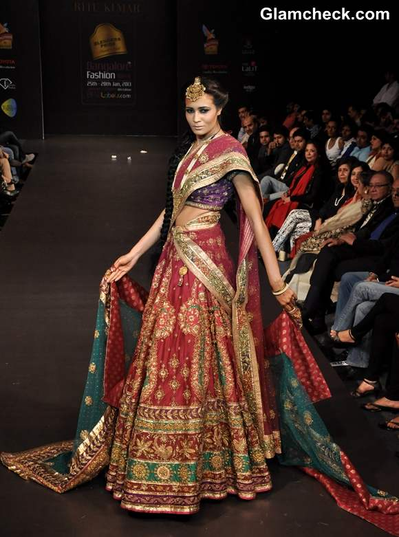 Ritu Kumar grand finale Bangalore Fashion Week summer showers 2013