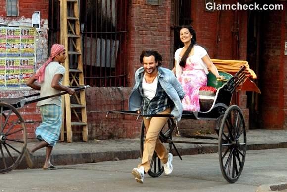 Saif Ali Khan Sonakshi Sinha in Kolkatta for Bullet Raja