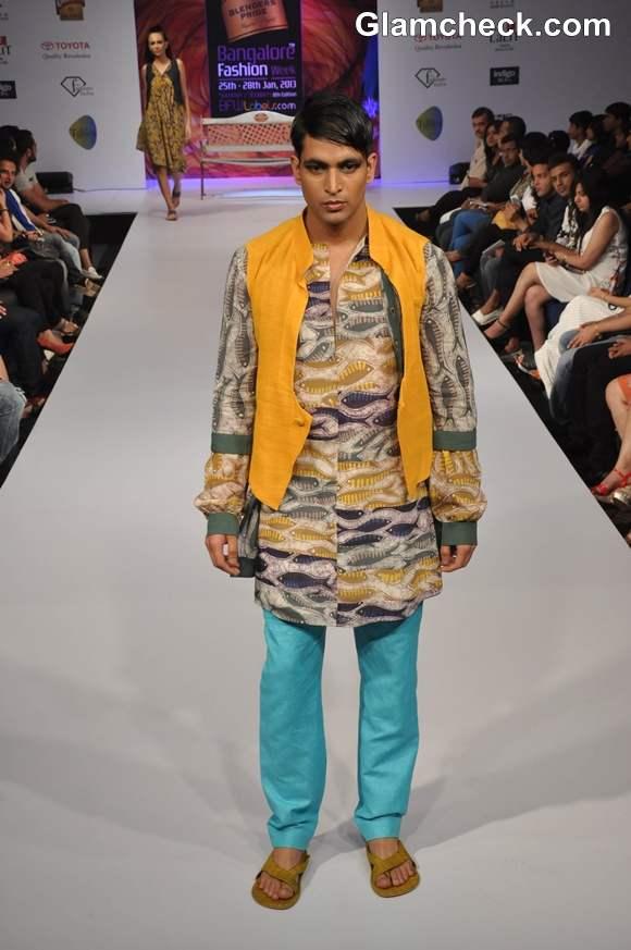 Sayanthan Sarkar bangalore fashion week summer showers 2013