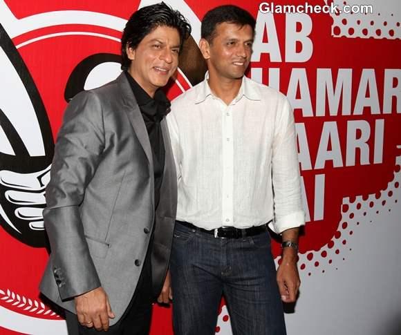 Shah Rukh Khan Rahul Dravid Kick Off NDTV University Cricket Championship