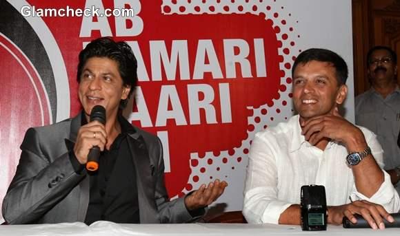 Shah Rukh Khan Rahul Dravid NDTV University Cricket Championship