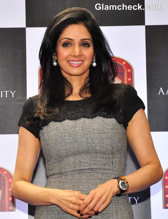 Sridevi hairstyle 2013 Aamby Valley Broadway Delights launch
