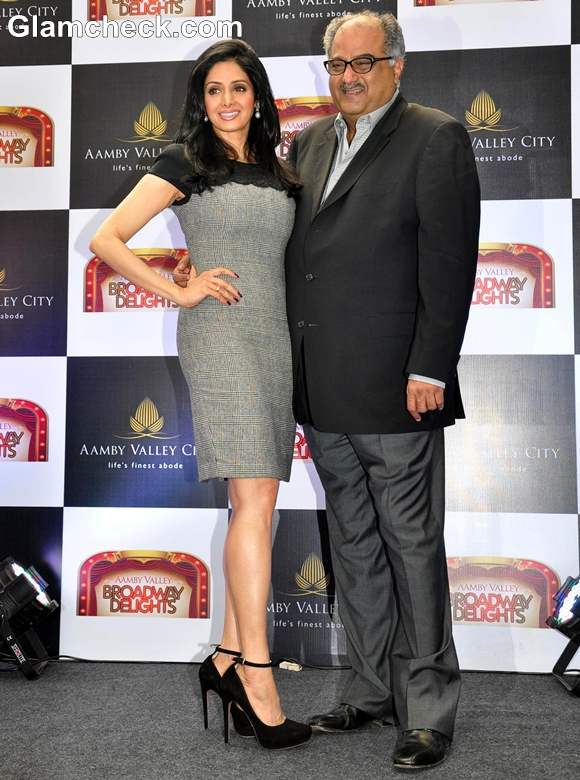 Sridevi with boney kapoor 2013