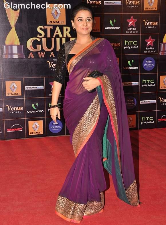 Vidya Balan at Star Guild Awards 2013