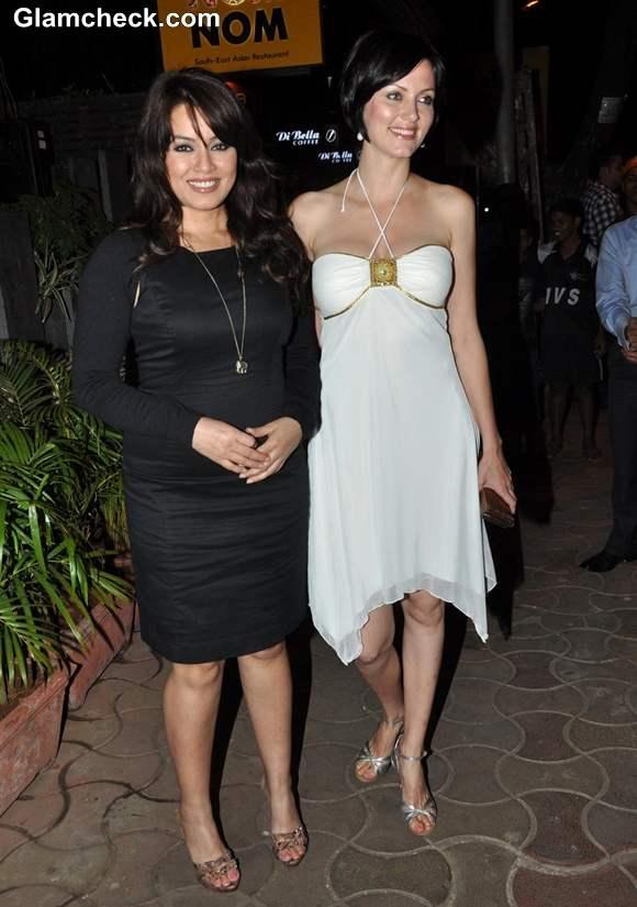 Yana Gupta Mahima Chaudhary at Anuradha Sawhney Book Launch