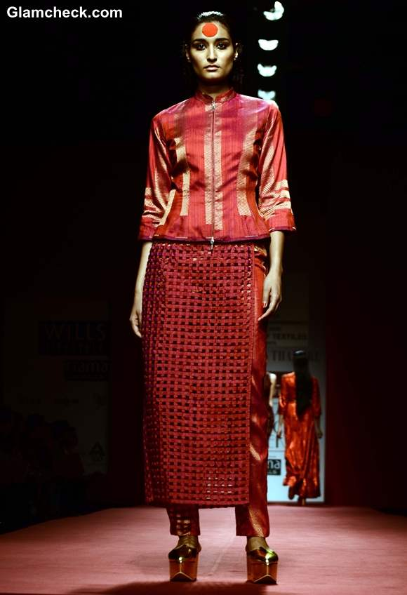 Abraham Thakore at WIFW Fall-Winter 2013