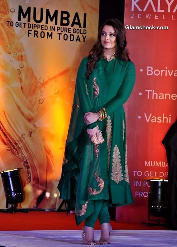 Aishwarya Rai Bachchan in Green Anarkali suit