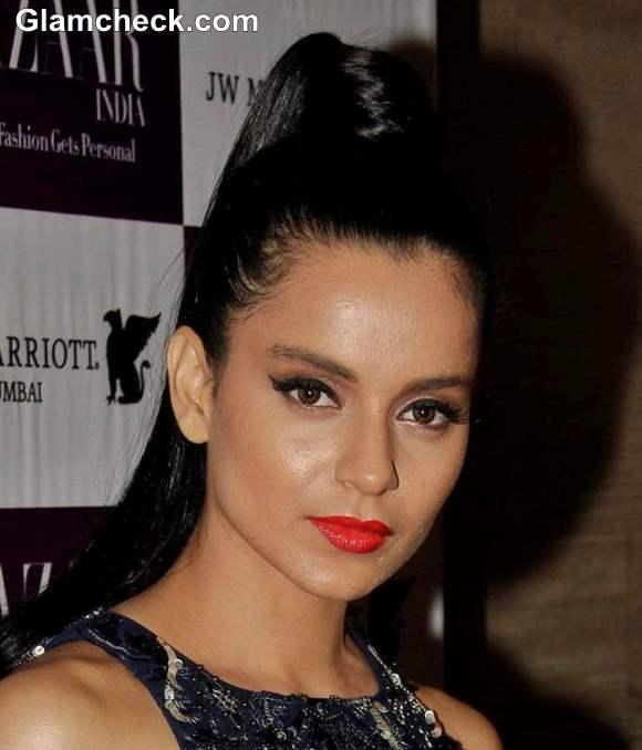 Bollywood Celeb Makeup Trend Orange Lips- Kangana Ranaut