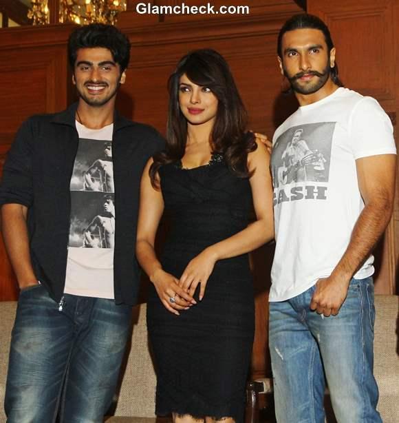 Cast of Gunday Promote Film at Press Meet in Kolkatta