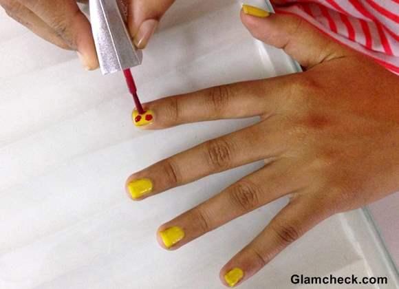 Colorful Holi Nail Art