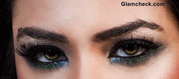Colorful eye makeup Holi