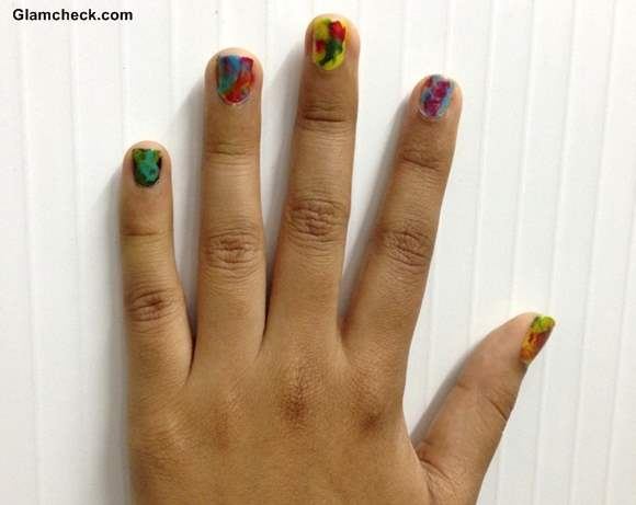 DIY Holi Nail Art