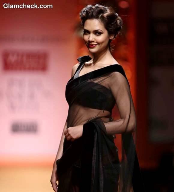 Esha Gupta at Manish Malhotra WIFW Fall-Winter 2013
