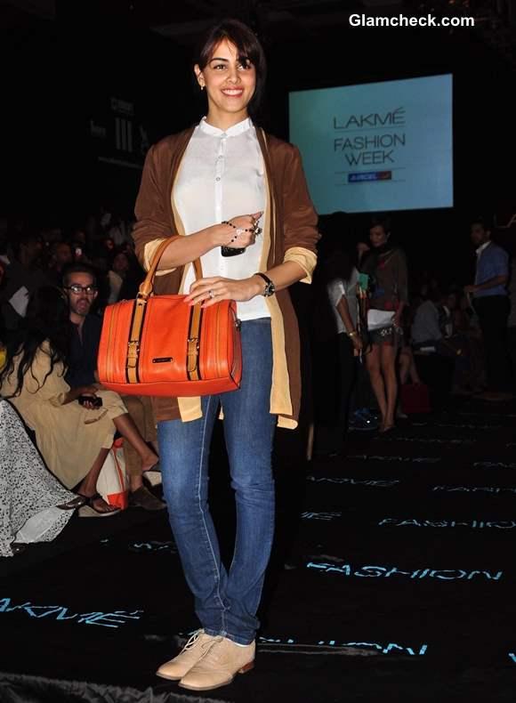 Genelia Deshmukh at Lakme India Fashion Week Summer Resort 2013 - Day 2