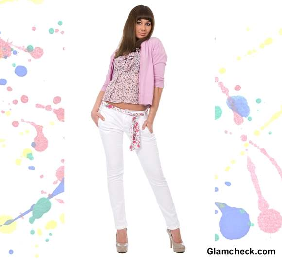 Holi Dressing tips wearing white denims with pink top