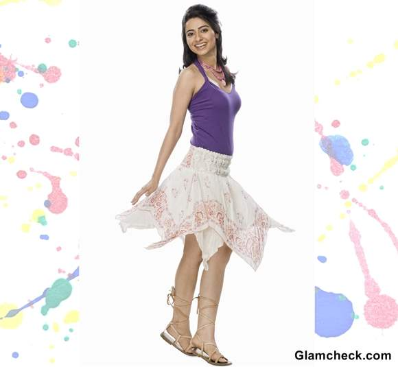 Holi Dressing tips wearing white skirt with purple top