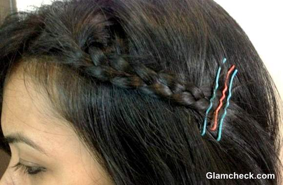 Holi Hairstyle Side Braided Bob DIY colored Bobby Pins