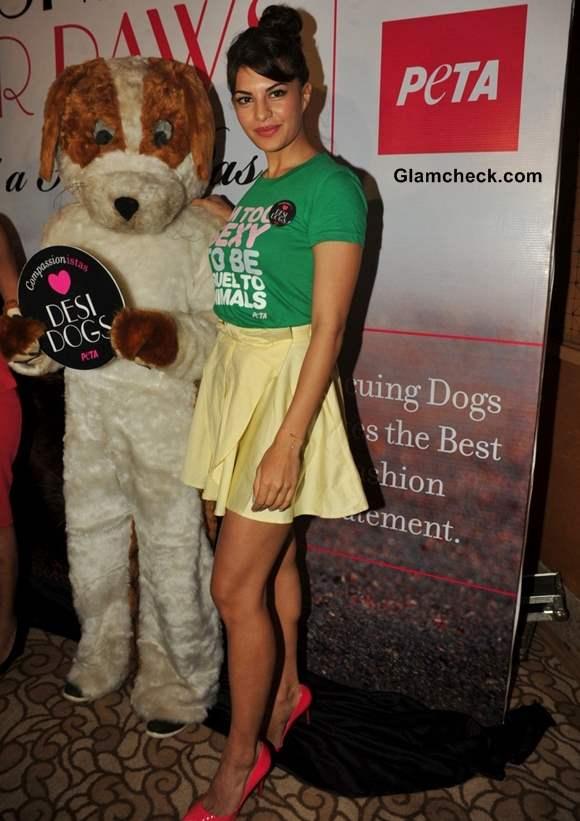 Jacqueline Fernandes at PETA Campaign