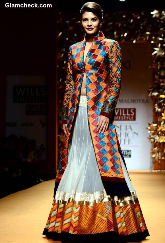 Jacqueline Fernandes for Manish Malhotra WIFW Fall-Winter 2013