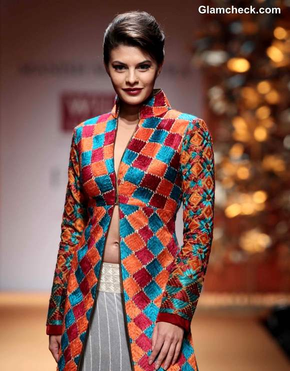Jacqueline Fernandes for Manish Malhotra at WIFW Fall-Winter 2013