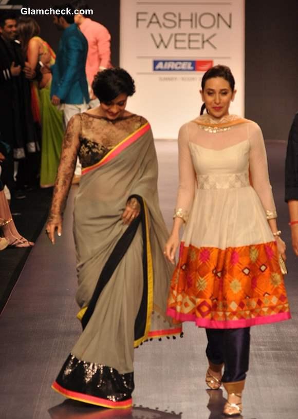 Kajol and Karishma Kapoor at Manish Malhotra LFW Summer-Resort 2013 show