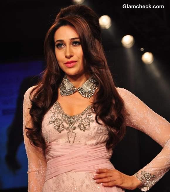 Karisma Kapoor Walks for Shehlaa Khan at Lakme Fashion Week Summer Resort 2013