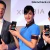 Katrina Kaif Launches Sony Xperia Z in Collared Blue Dress