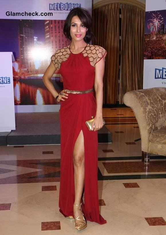 Malaika Arora Khan Reveals Toned legs in Sexy Red Dress