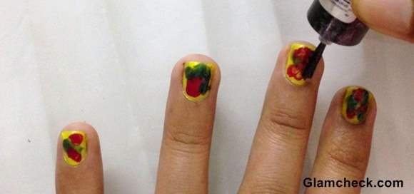 Nail Art holi diy