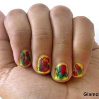 Nail Art holi inspired nails