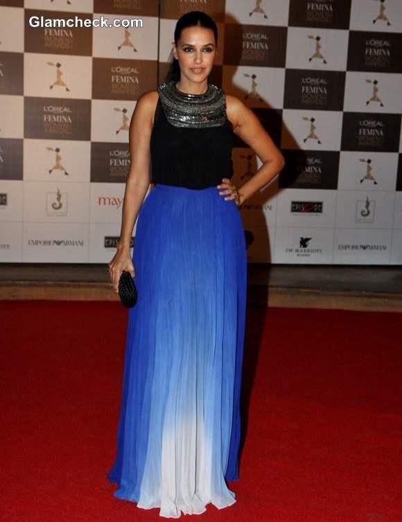 Neha Dhupia Outfit at LOreal Paris Femina Women Awards 2013