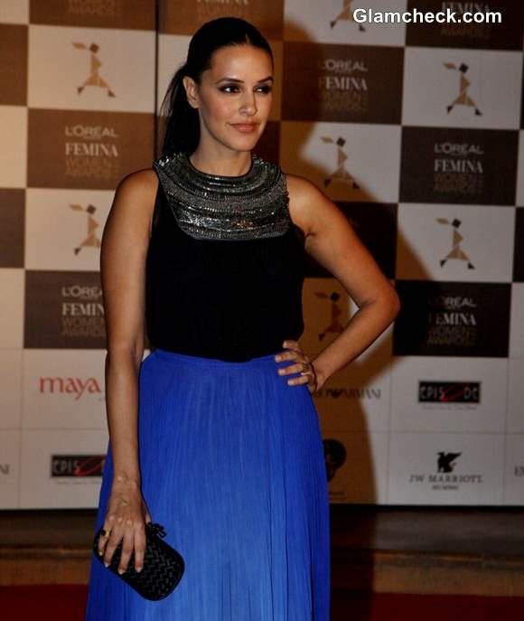 Neha Dhupia at LOreal Paris Femina Women Awards 2013