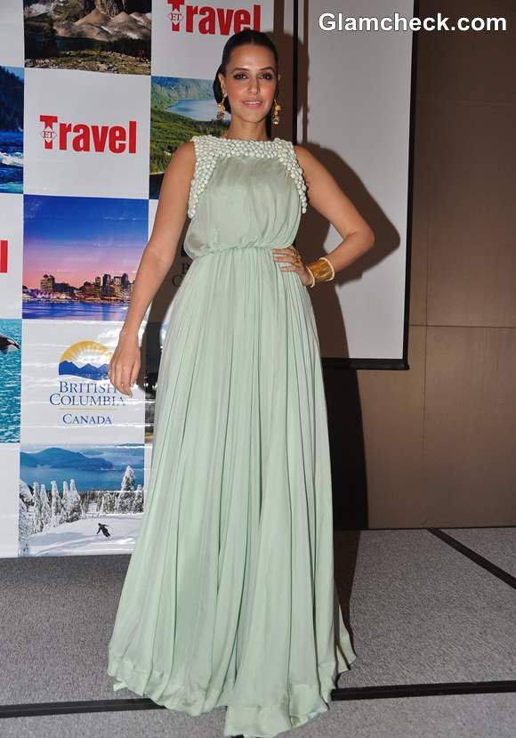 Neha Dhupia in gown Promotes British Columbia tourism
