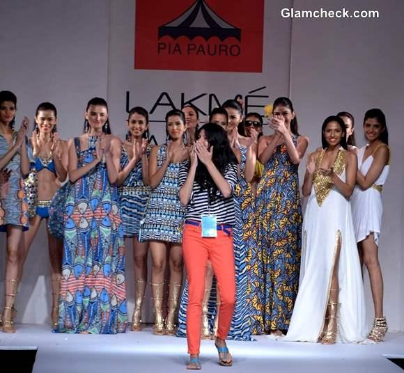 Pia Pauro at Lakme India Fashion Week Summer-Resort 2013