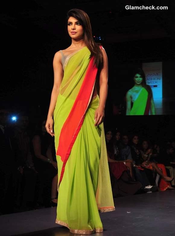 Priyanka Chopra Showstopper for Manish Malhotra at LFW Summer Resort 2013