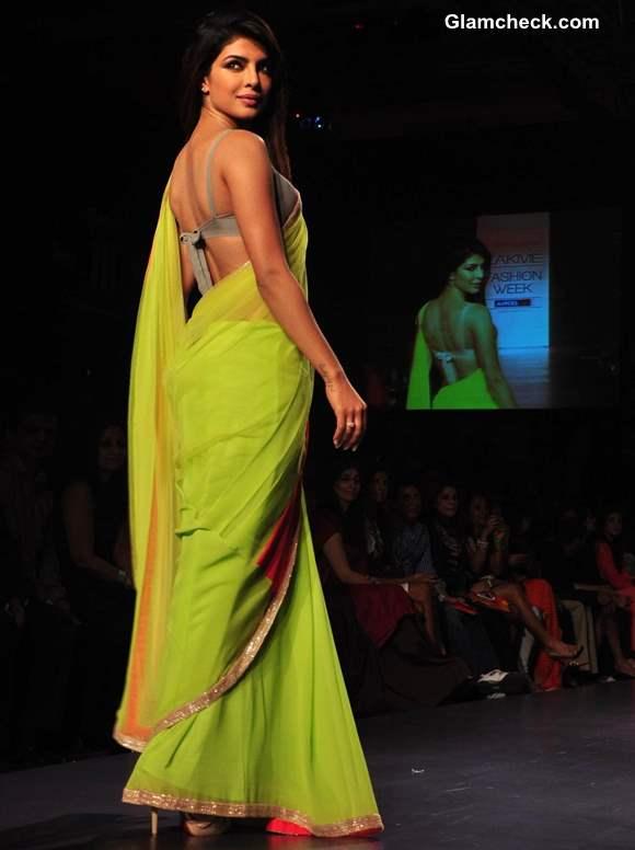 Priyanka Chopra for Manish Malhotra at LFW Summer Resort 2013