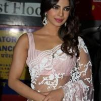 Priyanka Chopra in pink Lace Sari
