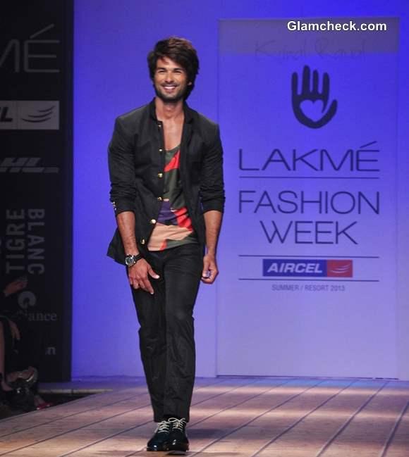 Shahid Kapoor for Kunal Rawal at LFW Summer Resort 2013